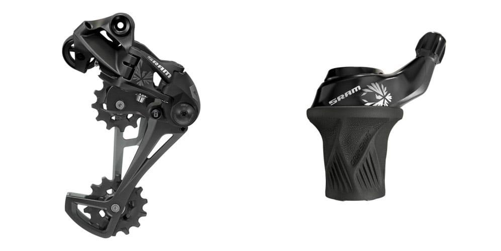 GX Eagle™ Rear Derailleur and SRAM Eagle™ Grip Shift