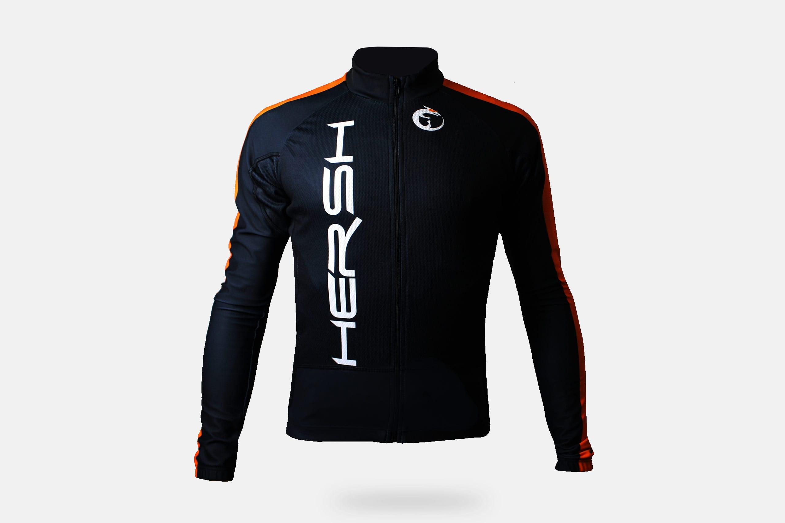 abbigliamento autunnale per bicicletta. Tessuto tecnico ad alte prestazioni.