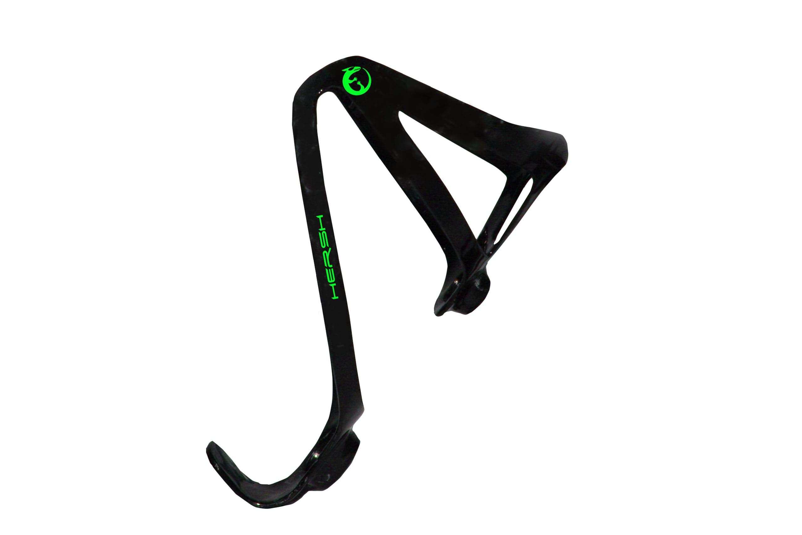 Green Hersh Elegance carbon fibre bottle cage for bike