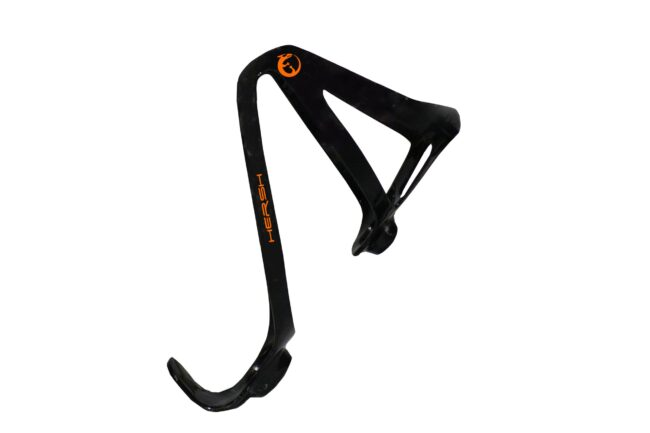 Orange Hersh Elegance carbon fibre bottle cage for bike