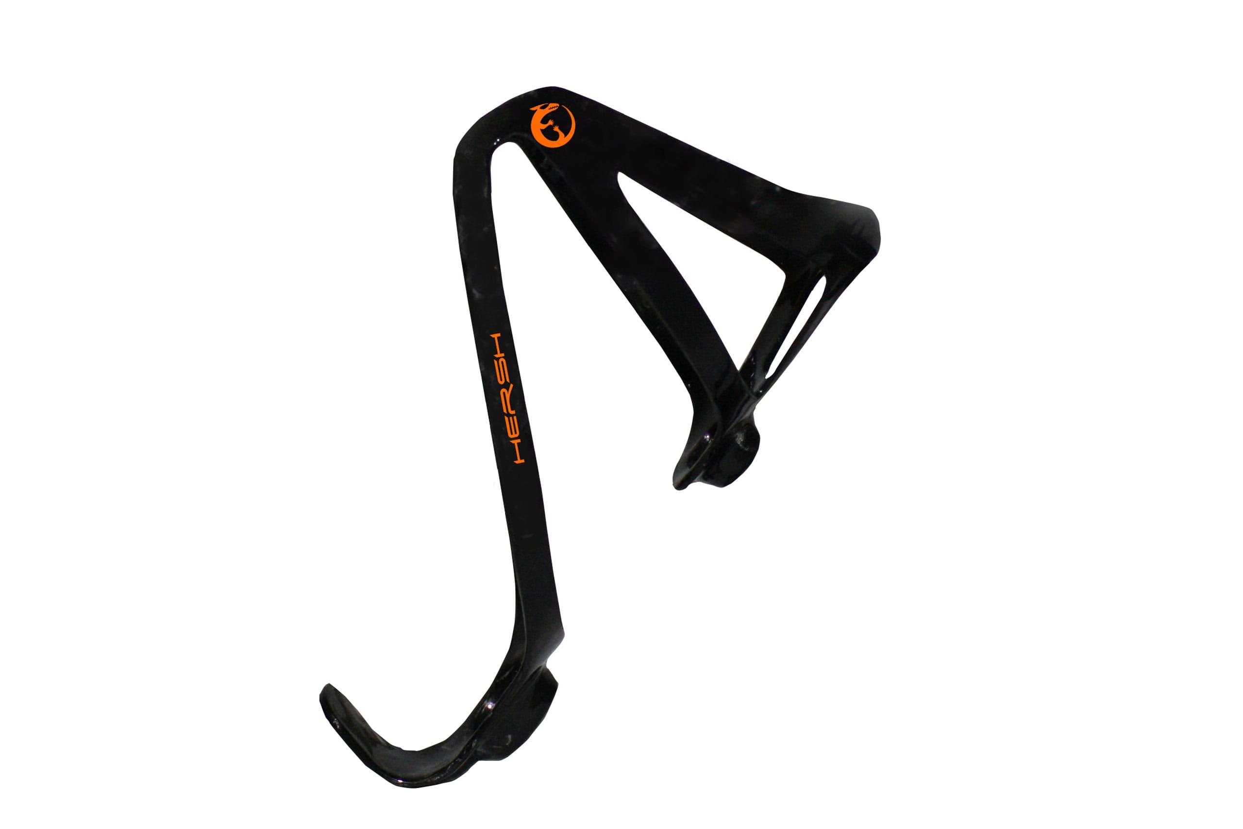 Orange Hersh Elegance carbon fibre bottle cage for bike