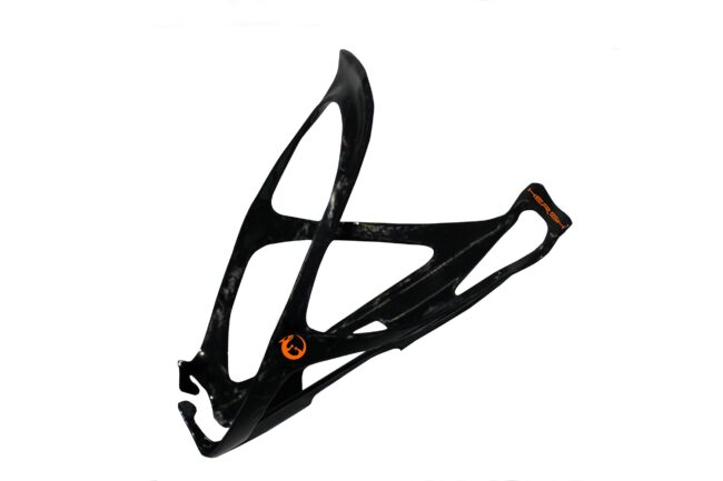 Orange Hersh Moon carbon fibre bottle cage for bike
